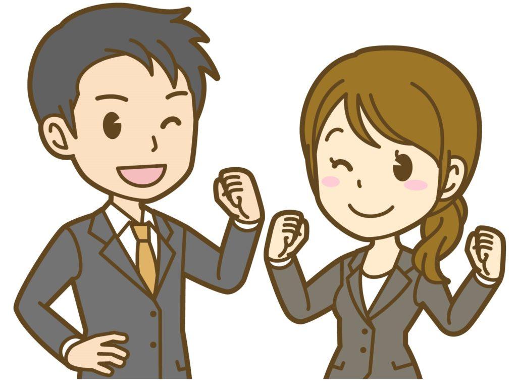 男性と女性社員